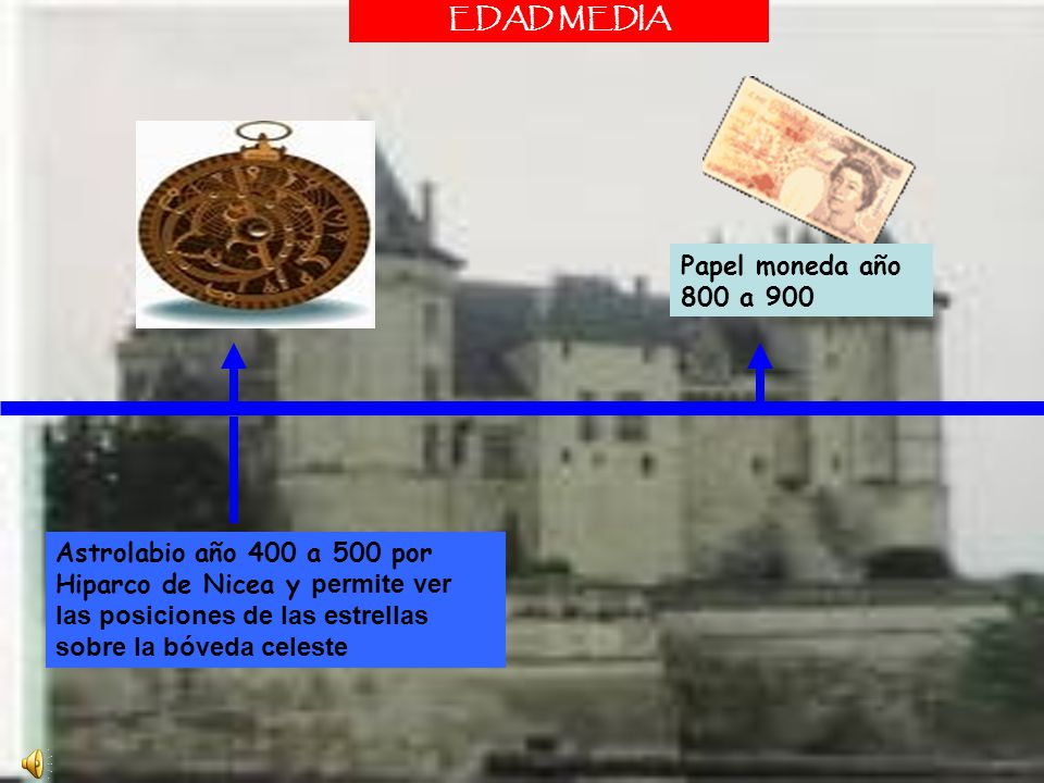 EDAD MEDIA Papel moneda año 800 a 900.