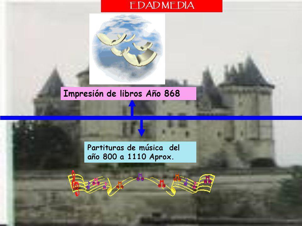Impresión de libros Año 868