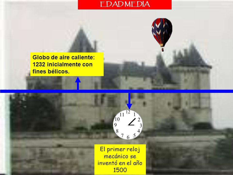 El primer reloj mecánico se inventó en el año 1500
