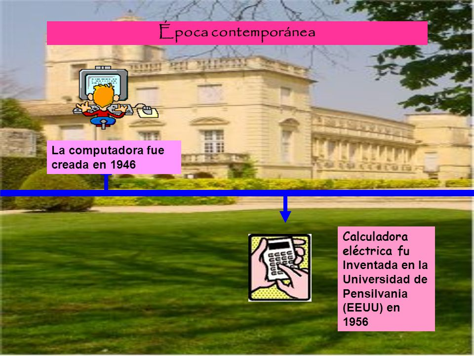 Época contemporánea La computadora fue creada en 1946