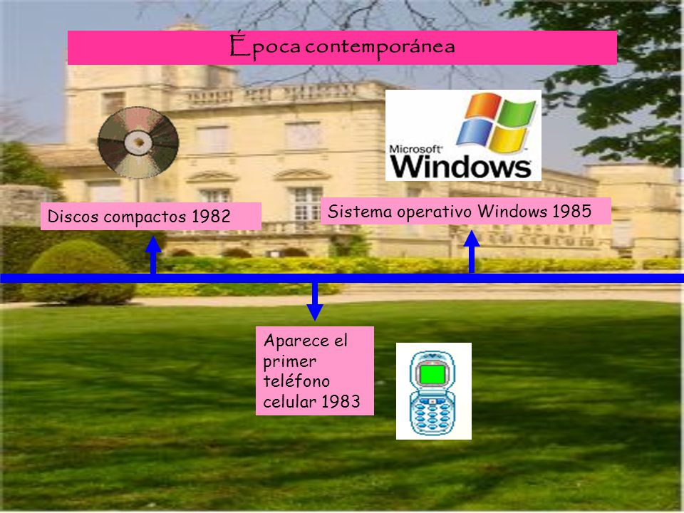 Época contemporánea Sistema operativo Windows 1985