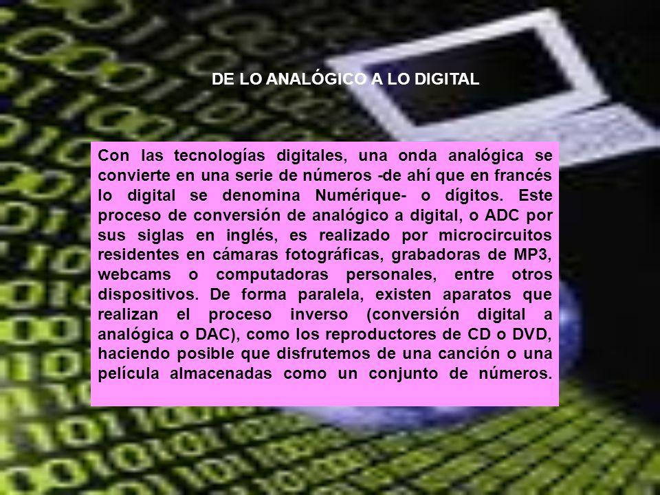DE LO ANALÓGICO A LO DIGITAL