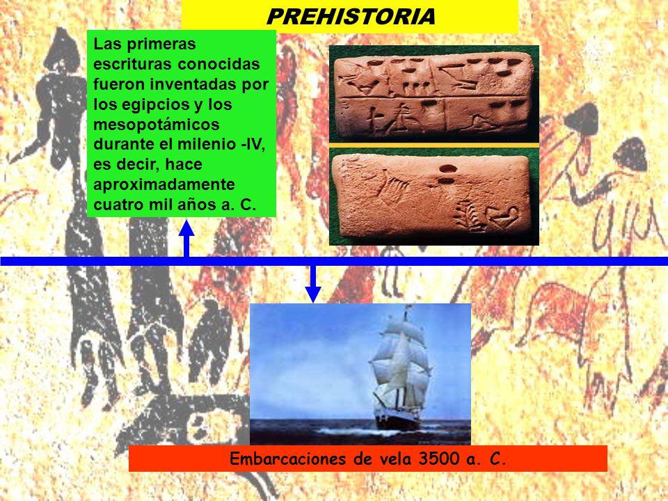 Embarcaciones de vela 3500 a. C.