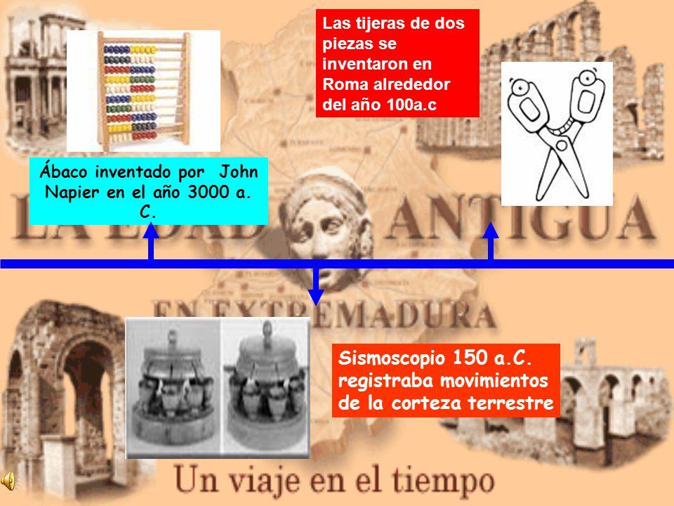 Ábaco inventado por John Napier en el año 3000 a. C.