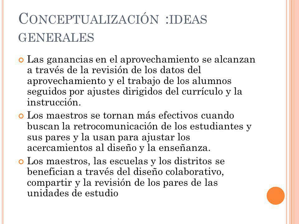 Conceptualización :ideas generales