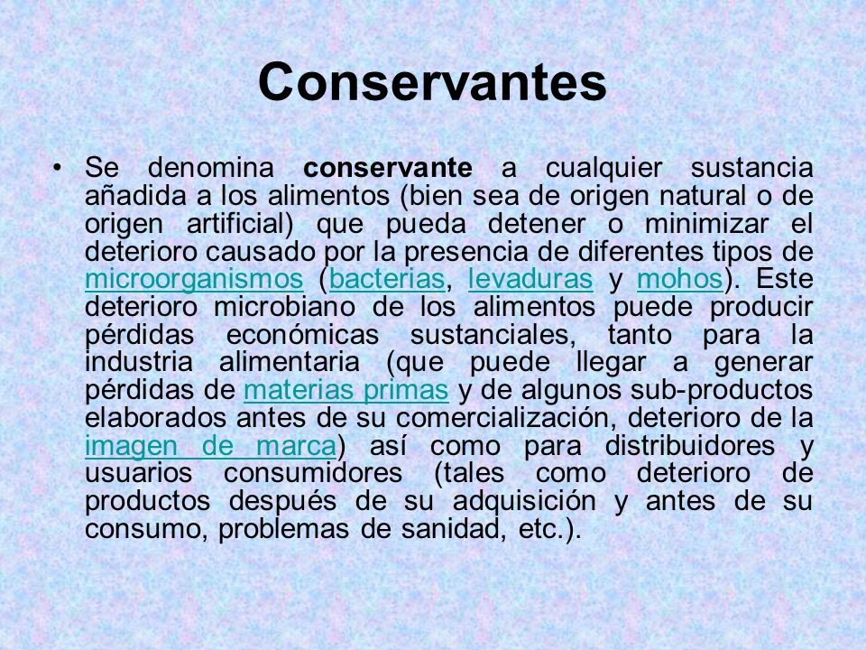 Conservantes