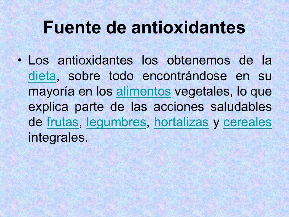 Fuente de antioxidantes