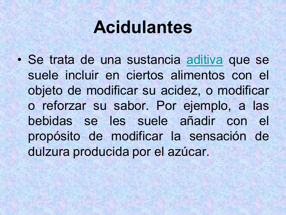 Acidulantes