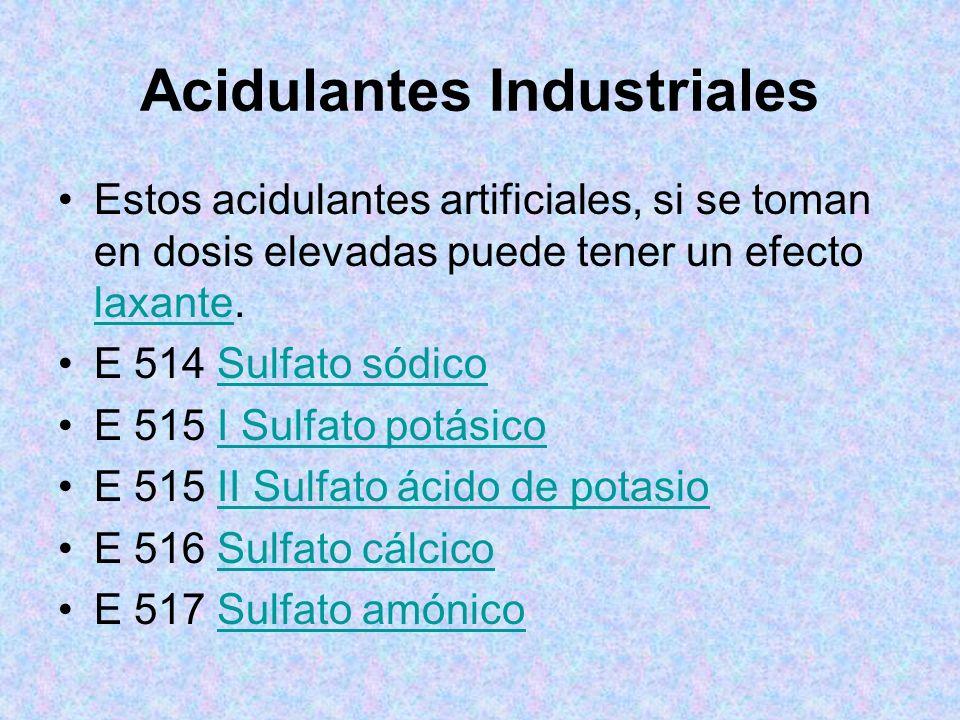Acidulantes Industriales