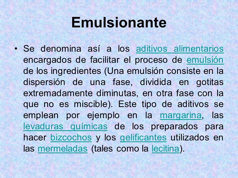 Emulsionante