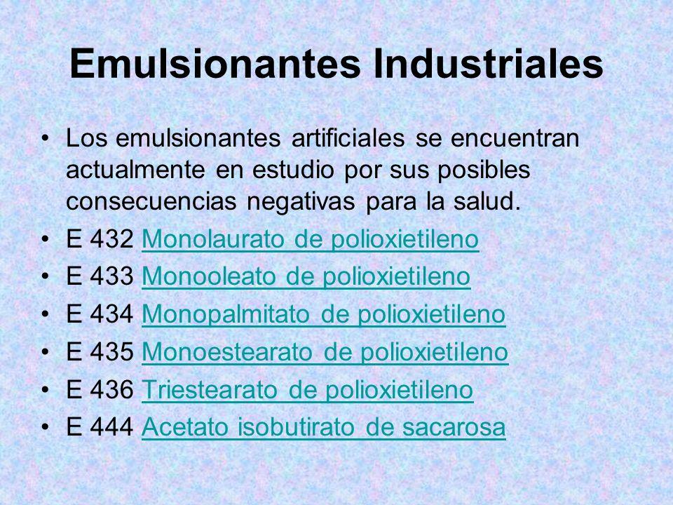 Emulsionantes Industriales
