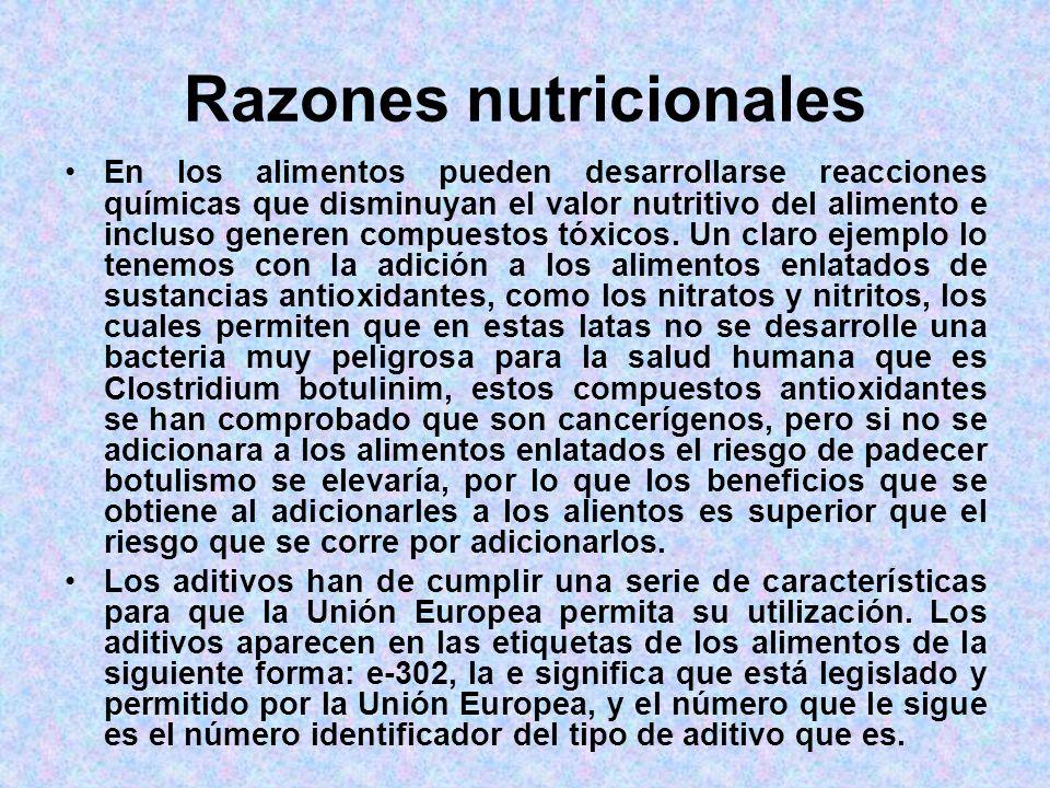 Razones nutricionales
