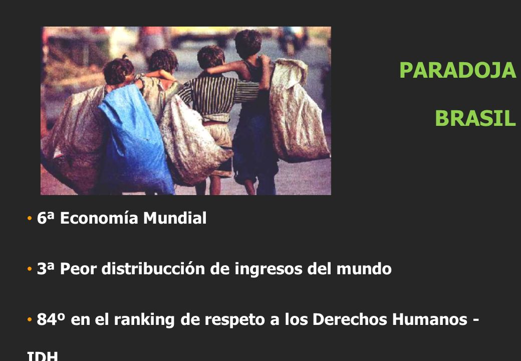 PARADOJA BRASIL 6ª Economía Mundial