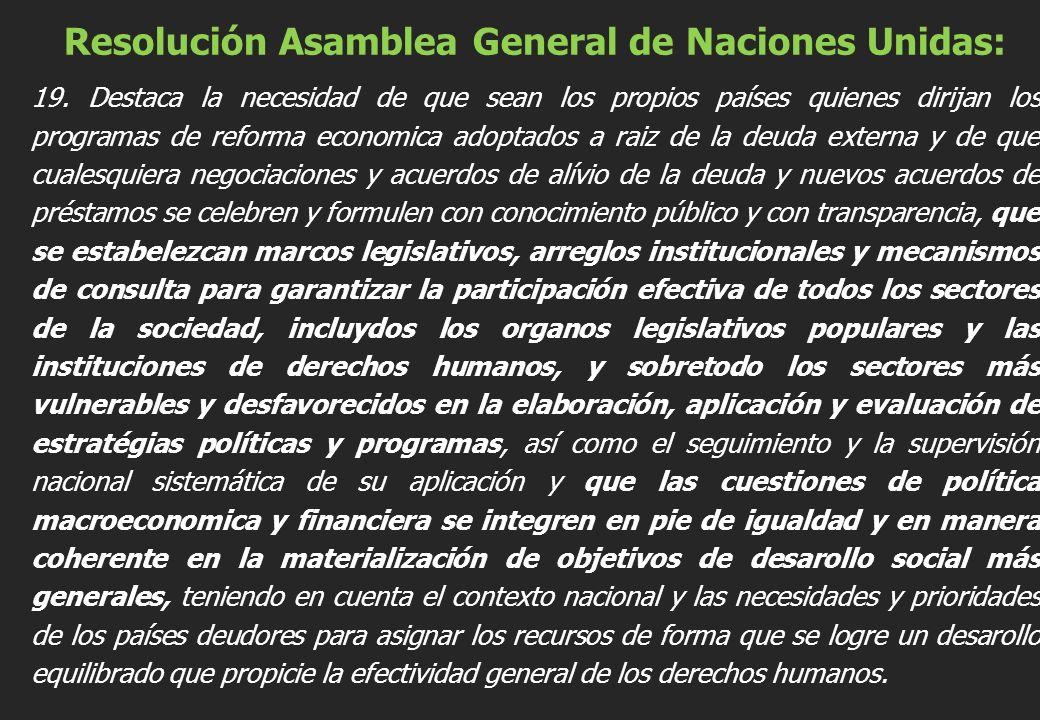 Resolución Asamblea General de Naciones Unidas: