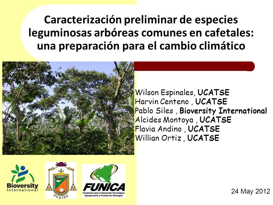Caracterización preliminar de especies leguminosas arbóreas comunes en cafetales: una preparación para el cambio climático