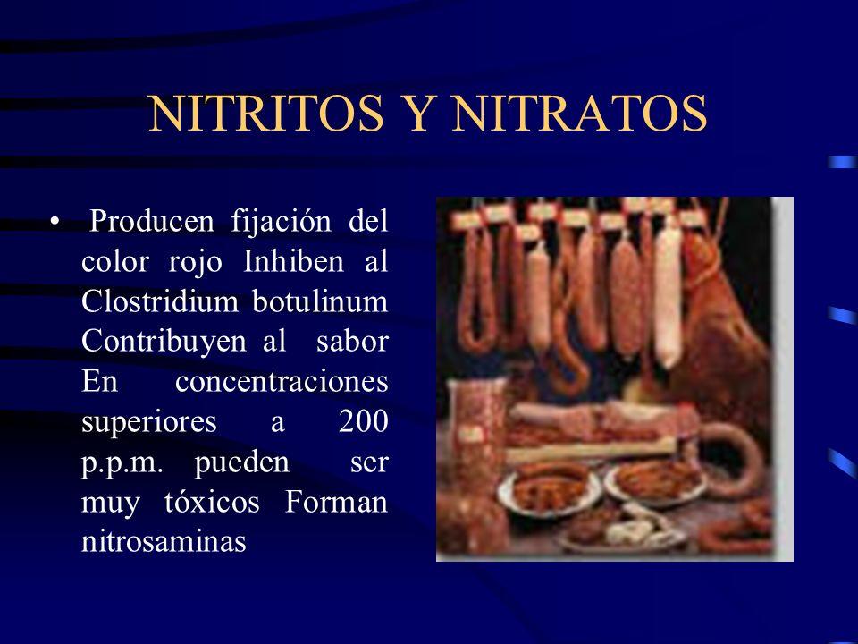 NITRITOS Y NITRATOS
