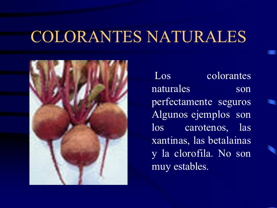 COLORANTES NATURALES