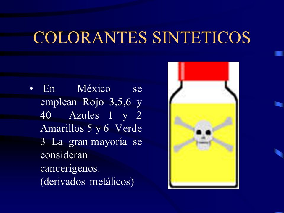 COLORANTES SINTETICOS