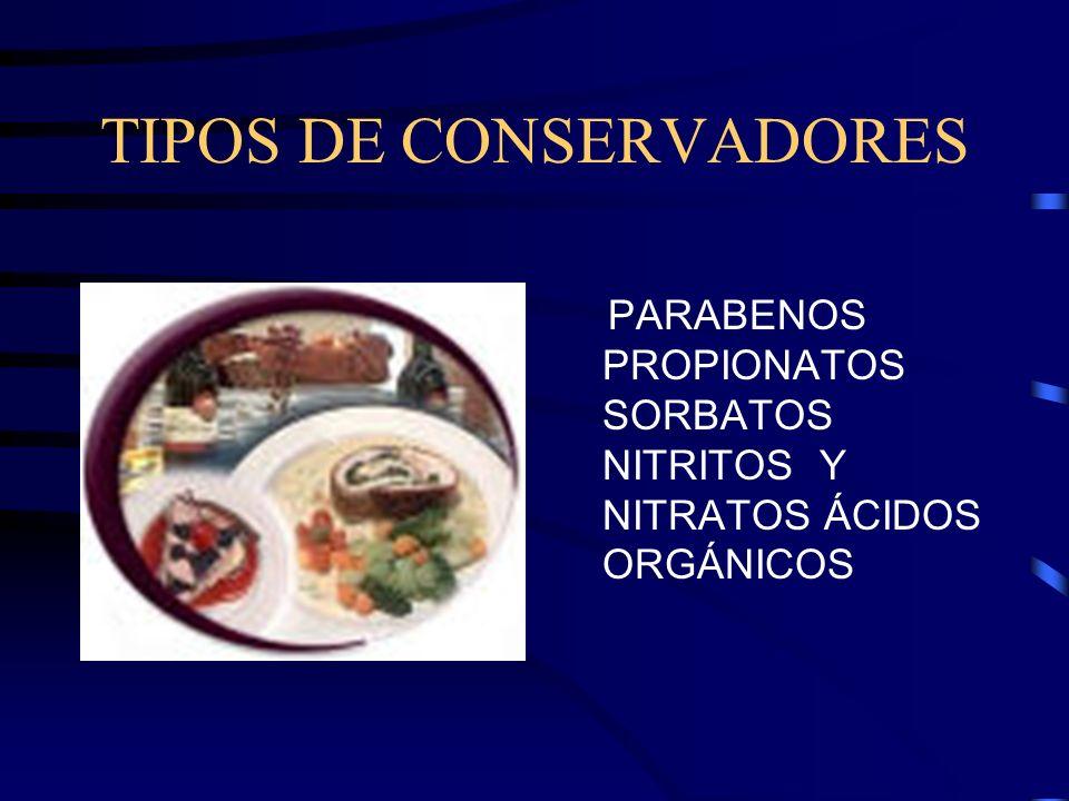 TIPOS DE CONSERVADORES