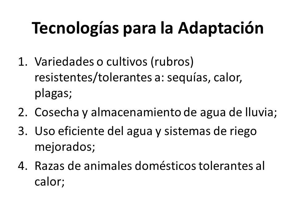 Tecnologías para la Adaptación