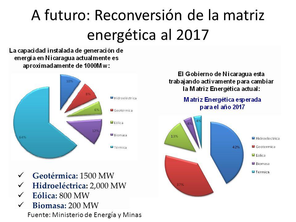 A futuro: Reconversión de la matriz energética al 2017
