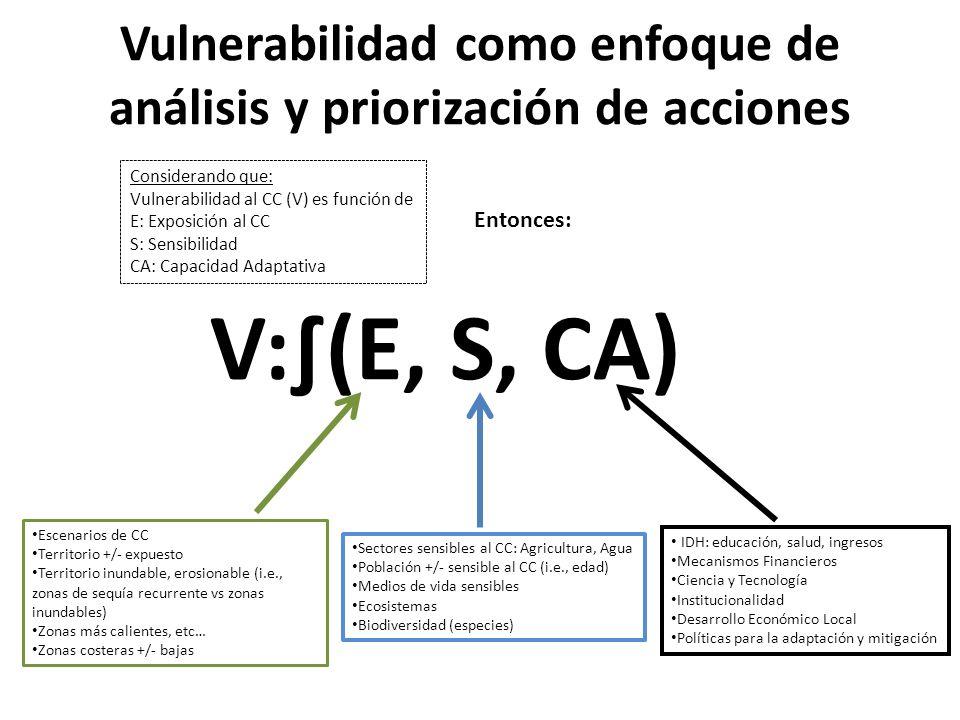 Vulnerabilidad como enfoque de análisis y priorización de acciones
