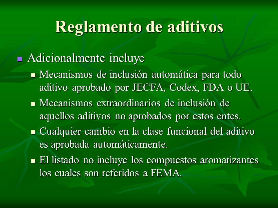 Reglamento de aditivos