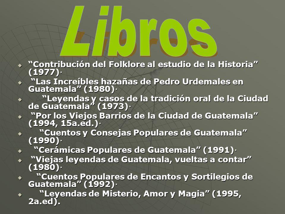 Libros Contribución del Folklore al estudio de la Historia (1977)·