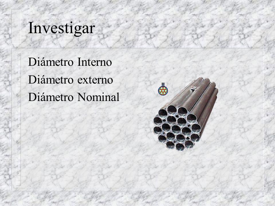 Investigar Diámetro Interno Diámetro externo Diámetro Nominal