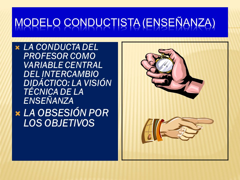 MODELO CONDUCTISTA (ENSEÑANZA)