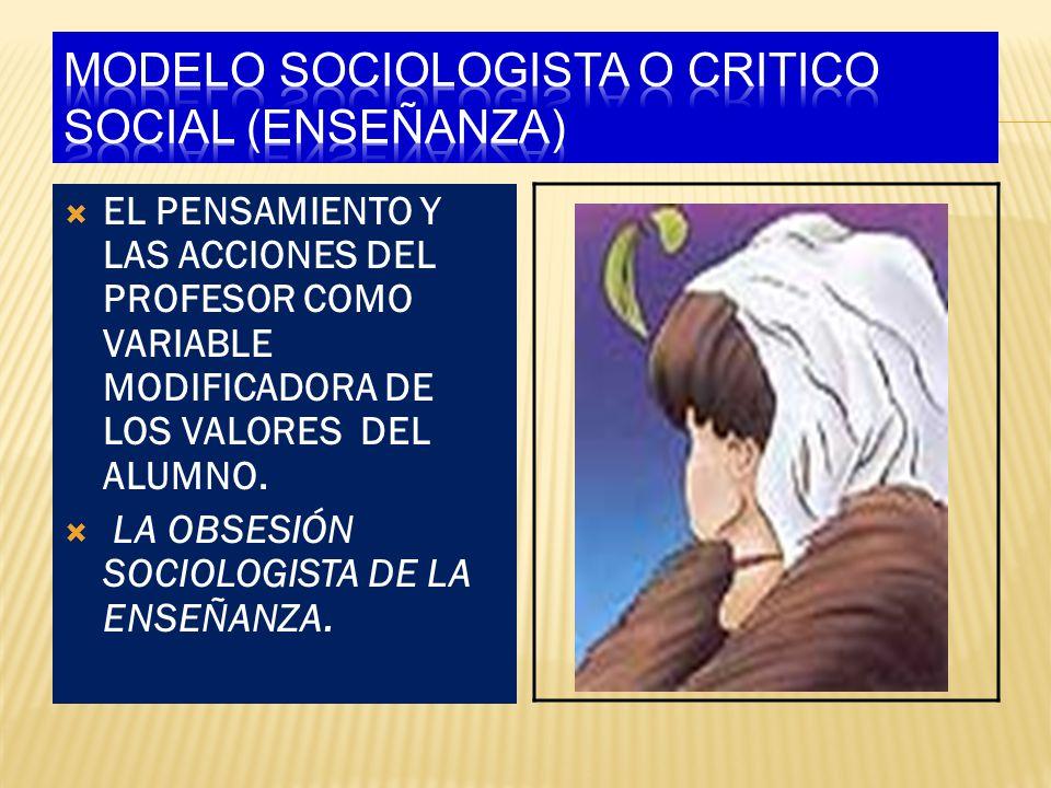 MODELO SOCIOLOGISTA O CRITICO SOCIAL (ENSEÑANZA)