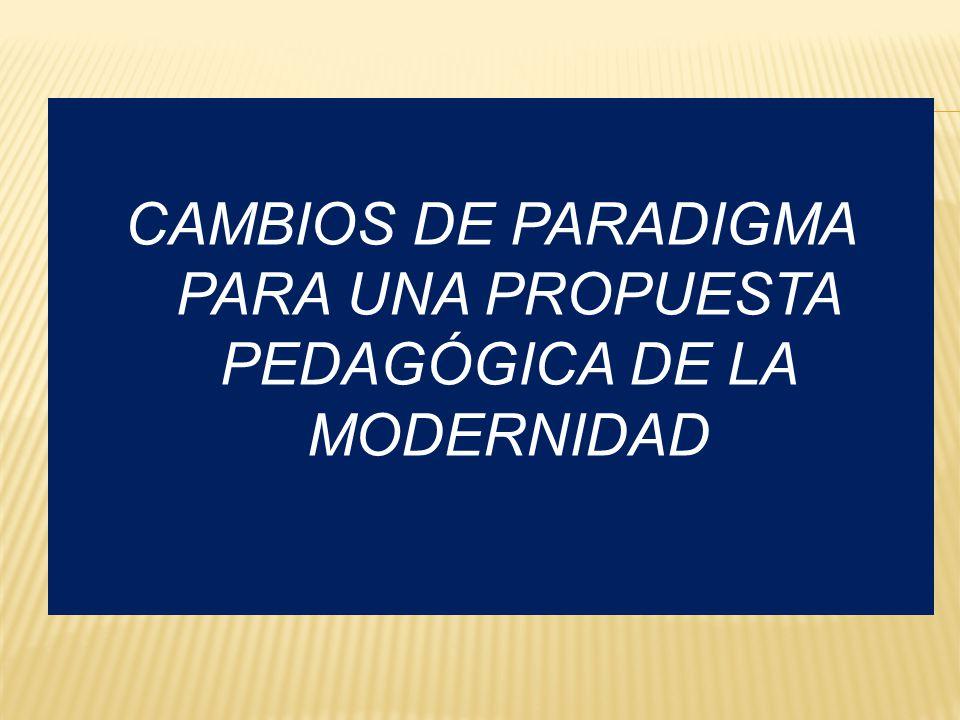CAMBIOS DE PARADIGMA PARA UNA PROPUESTA PEDAGÓGICA DE LA MODERNIDAD
