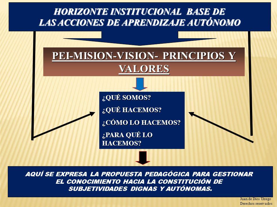 PEI-MISION-VISION- PRINCIPIOS Y VALORES