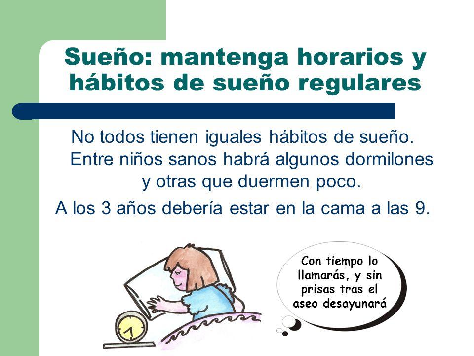 Sueño: mantenga horarios y hábitos de sueño regulares