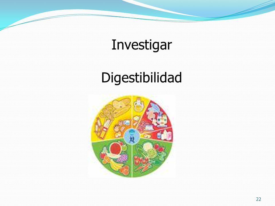 Investigar Digestibilidad