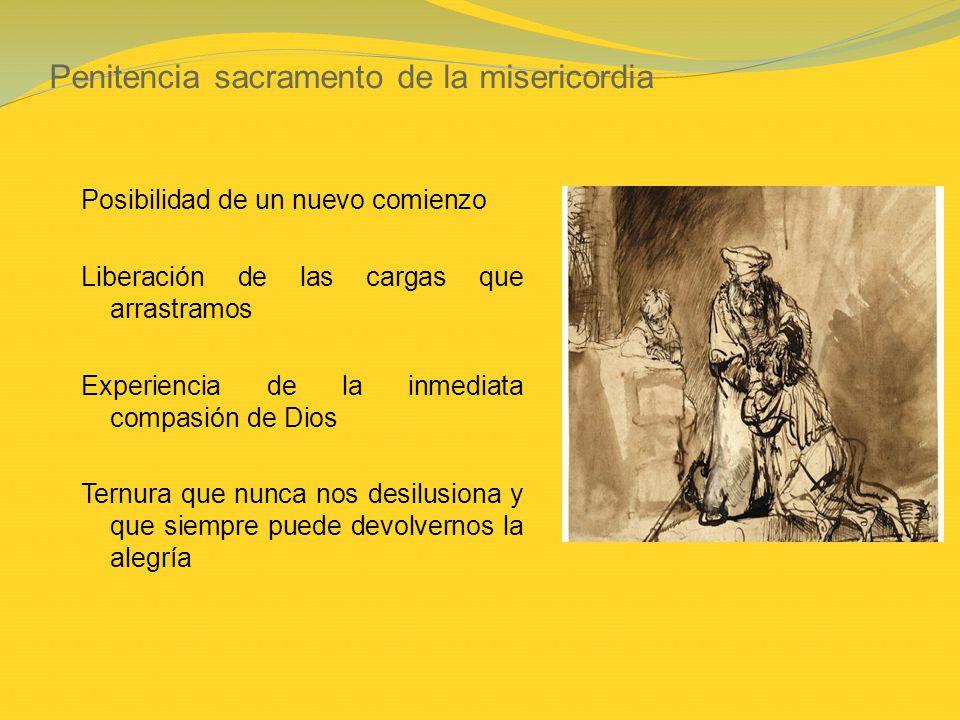 Penitencia sacramento de la misericordia