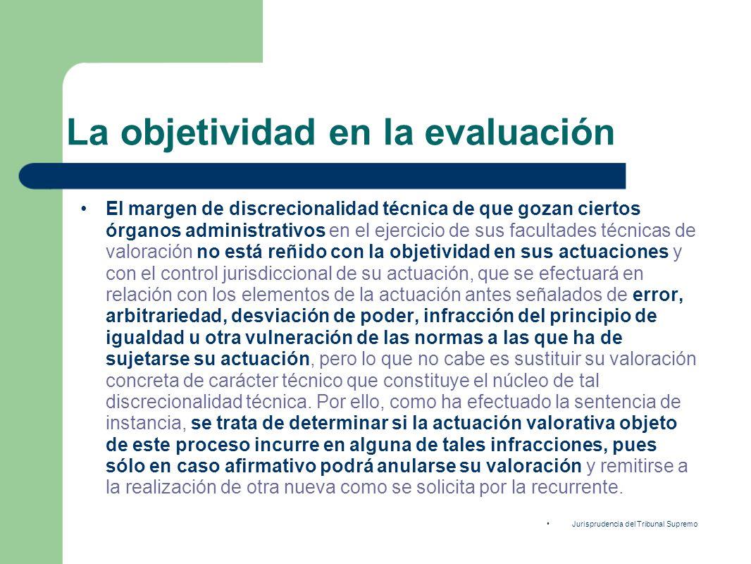 La objetividad en la evaluación