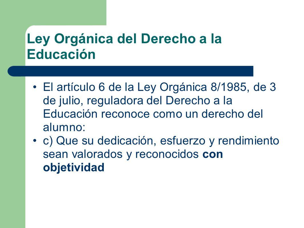Ley Orgánica del Derecho a la Educación