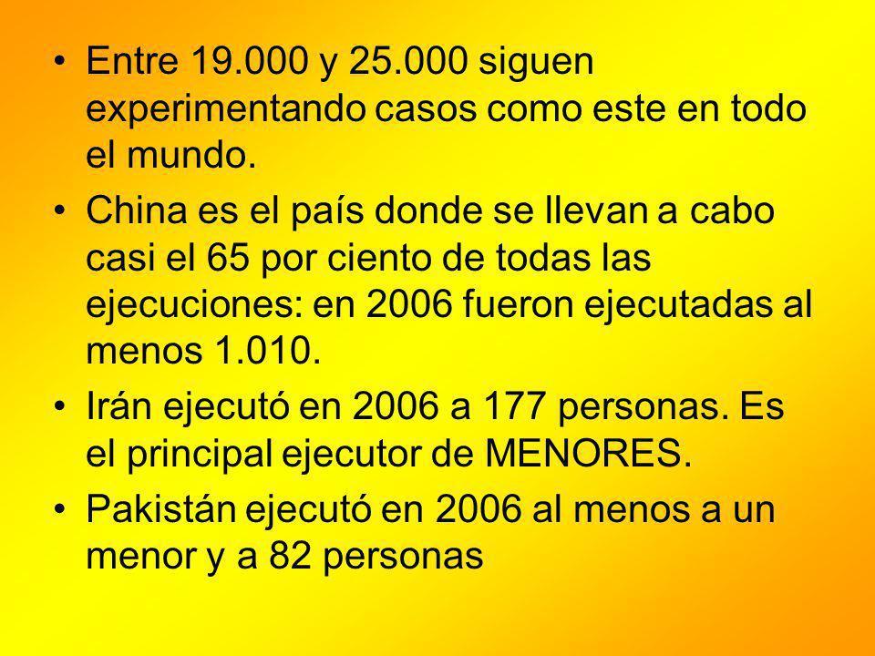 Entre 19.000 y 25.000 siguen experimentando casos como este en todo el mundo.