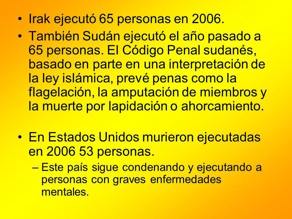 Irak ejecutó 65 personas en 2006.