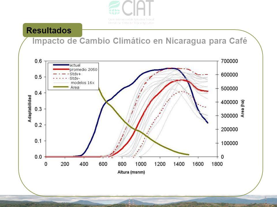 Impacto de Cambio Climático en Nicaragua para Café