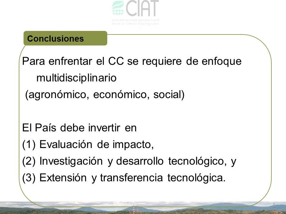 Para enfrentar el CC se requiere de enfoque multidisciplinario