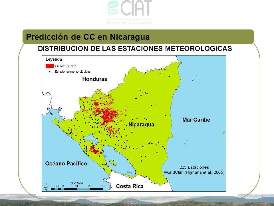Predicción de CC en Nicaragua