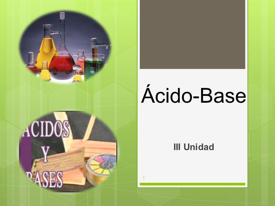 Ácido-Base III Unidad