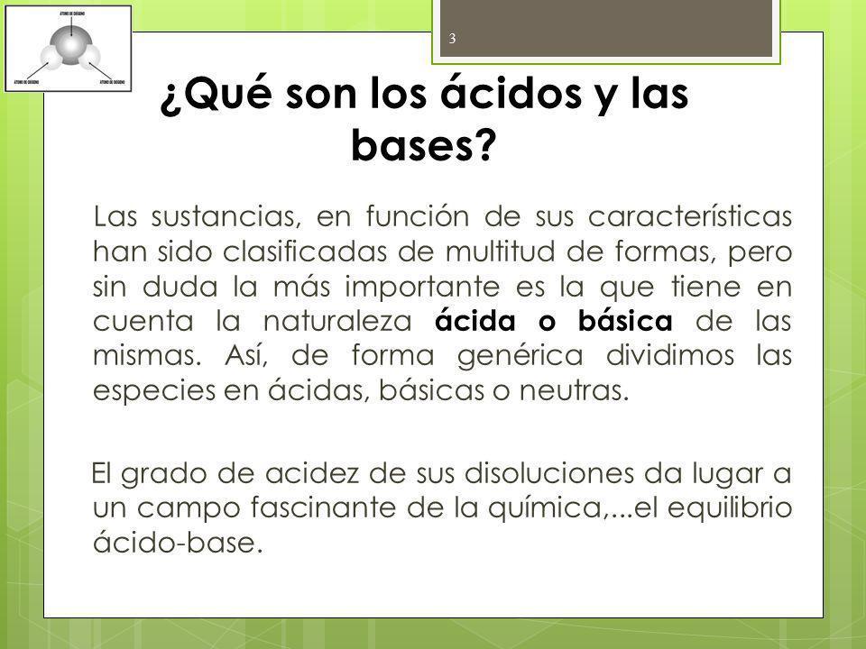 ¿Qué son los ácidos y las bases
