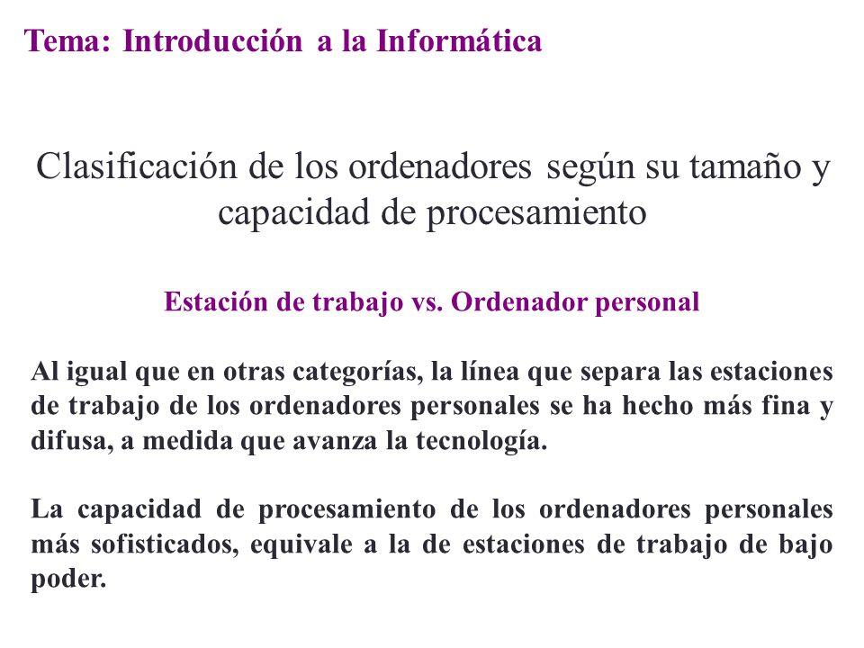 Estación de trabajo vs. Ordenador personal