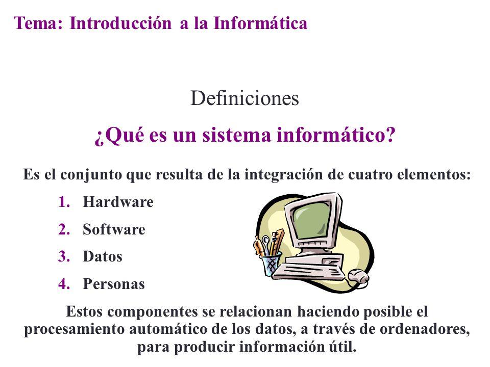 ¿Qué es un sistema informático