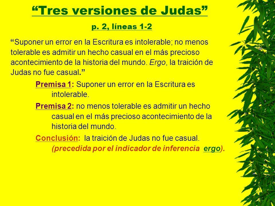 Tres versiones de Judas p. 2, líneas 1-2