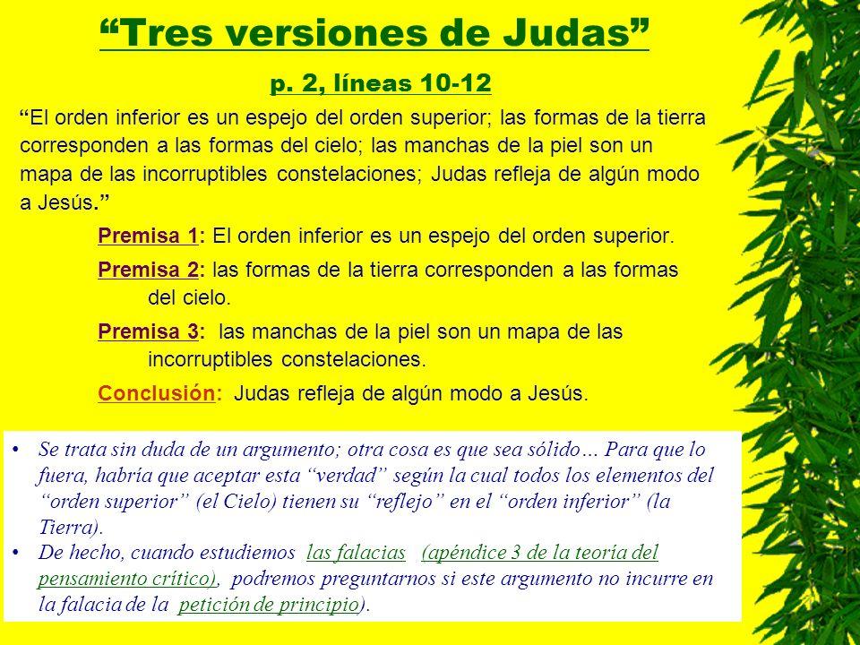 Tres versiones de Judas p. 2, líneas 10-12