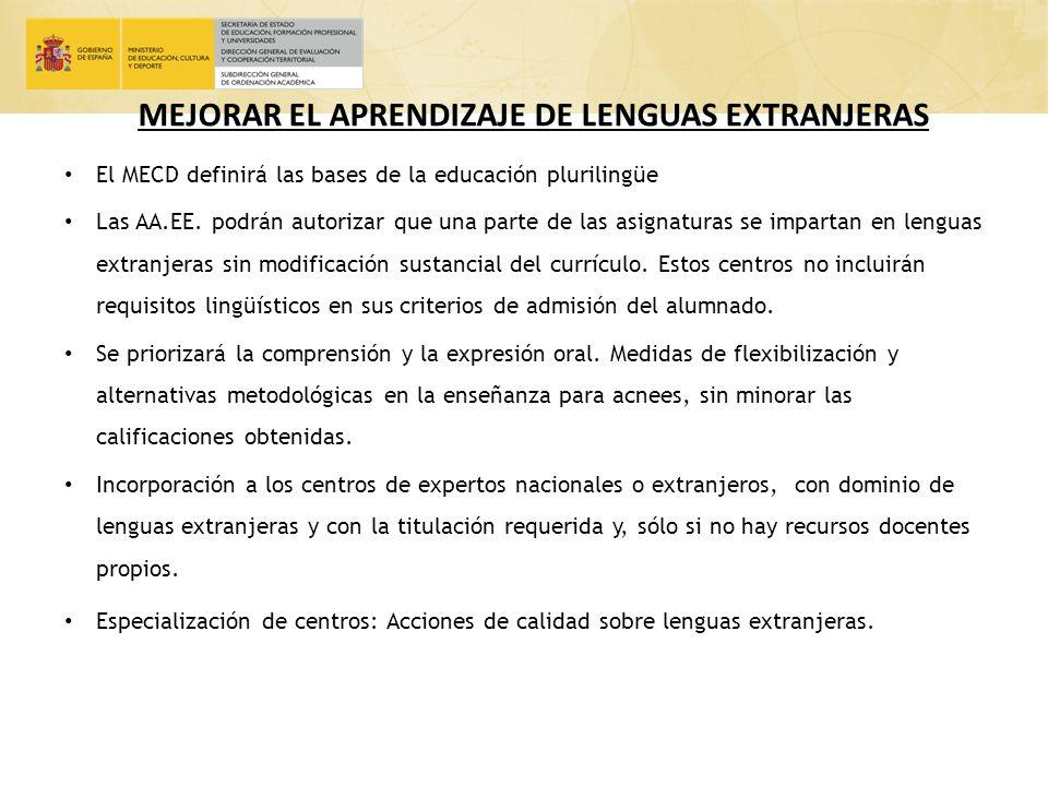 MEJORAR EL APRENDIZAJE DE LENGUAS EXTRANJERAS